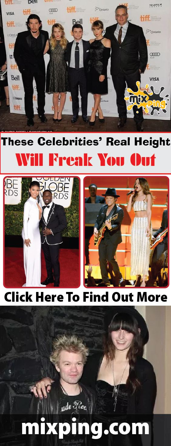 These Celebrities' Real Height Will Freak You Out