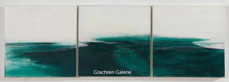 Jij hebt dit bewaard op Andre Hoppzak Z.t. 13   Andre Hoppzak   Schilderij   Painting   Kunst   Art   Blauw   Blue   Wit   White   Grachten Galerie