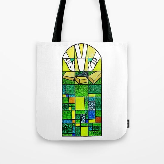 Abstract, qubism, square, Resurrection, Easter Sunday, tomb, Jesus, Christ Tote Bag