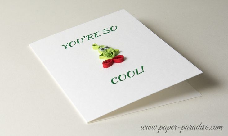 Cool Cucumber Quilling Card by Paper Paradise