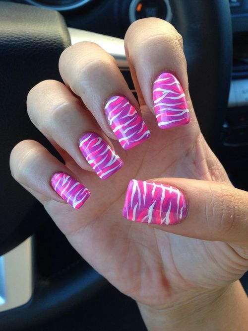 fake nails designs zebra Fake Nail Designs 2014