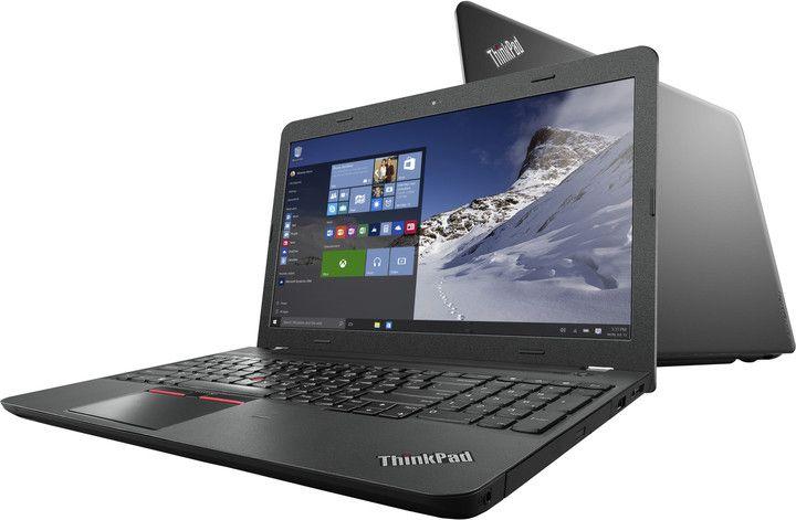 """Firemní notebook pro každodenní použití nejen v kanceláři, ale i na cestách za pomoci prodloužené výdrže při práci na baterii. 15.6"""" Full HD displej (1920x1080 bodů), procesor Intel Core i7-6500U (2.5GHz, TB 3.1GHz, HyperThreading); 8GB RAM DDR3; 1TB disk HDD; mechanika DVD±RW; grafika AMD Radeon R7 M370 2GB; rozhraní: Wi-Fi ac, Bluetooth, 3x USB 3.0/3.1 Gen 1, HDMI; 3D kamera Intel RealSense, TrackPoint, dokovací konektor OneLink; čtečka otisku prstů; OS Windows 10 Home."""