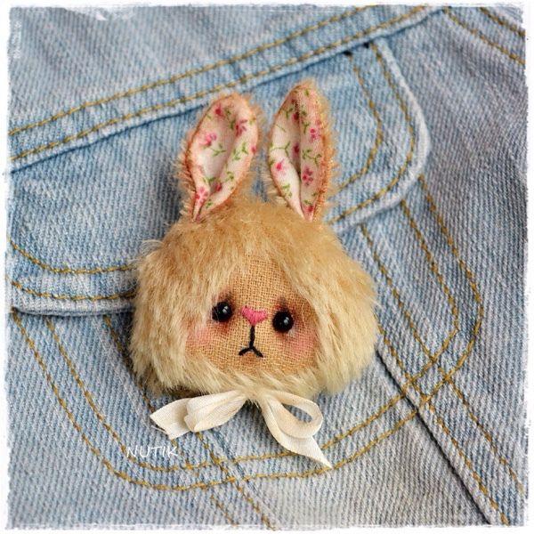 Купить Брошка зайка тедди - мишка брошка, мишка тедди, брошь, Браслет ручной работы