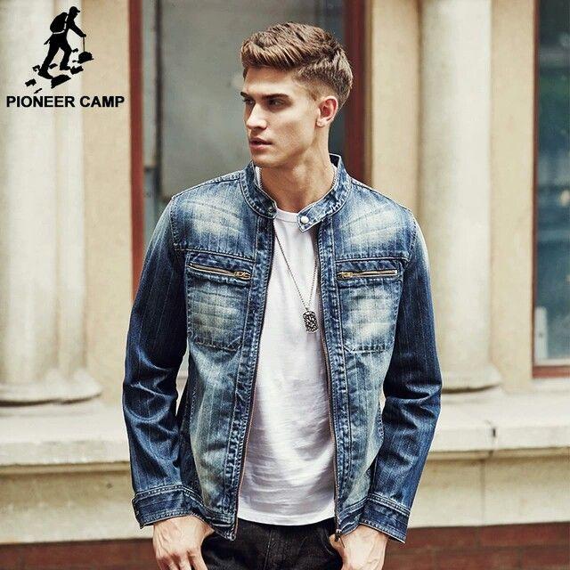 chaqueta de mezclilla hombres de la marca de moda clothing jeans chaquetas hombre otoño primavera casual
