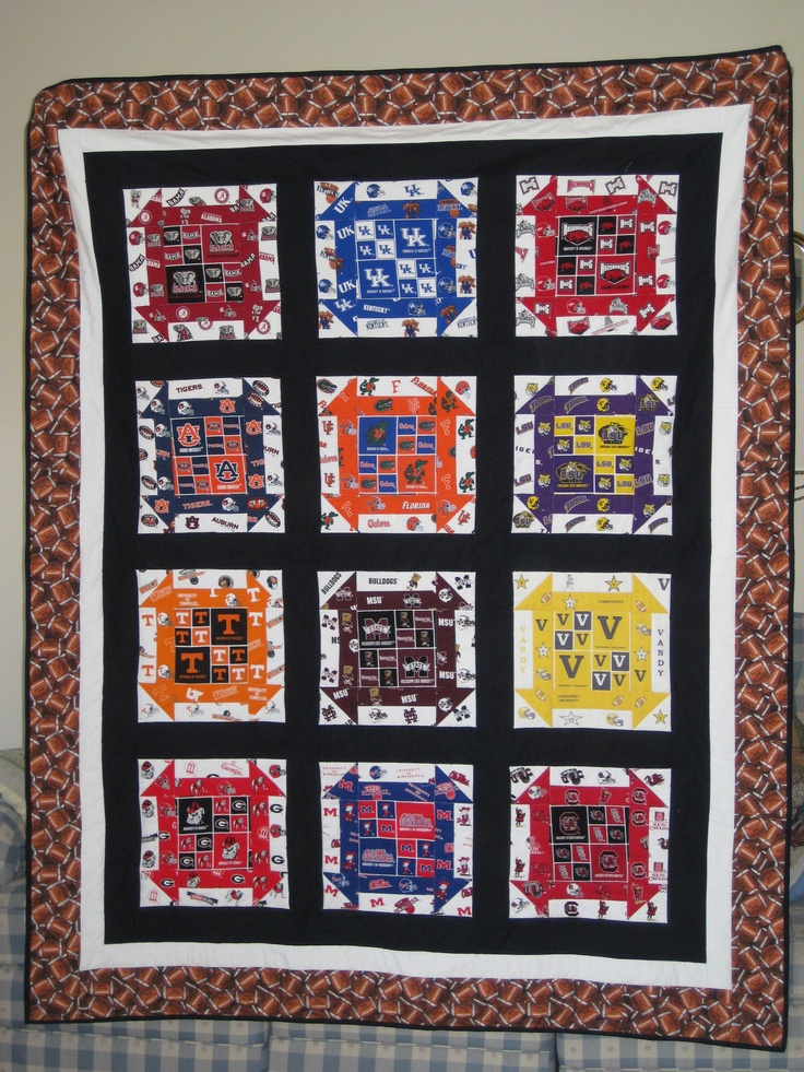 Quilt Patterns For College Students : Best 25+ Football quilt ideas on Pinterest Sports quilts, Football decor and Signed football ...