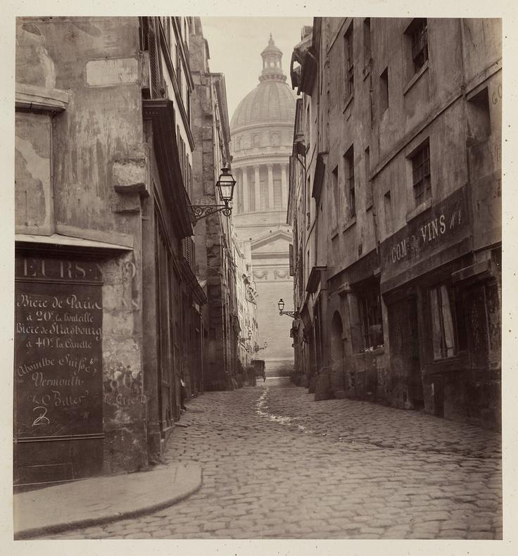 Rue des Sept Voles, Paris, by Charles Marville 1865