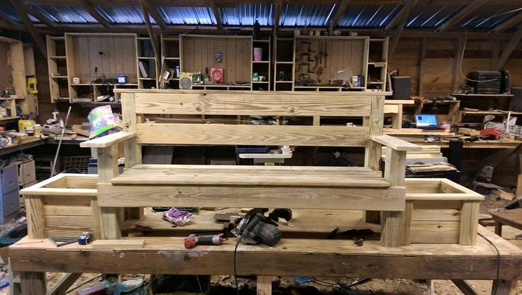 treated 6 foot planter bench