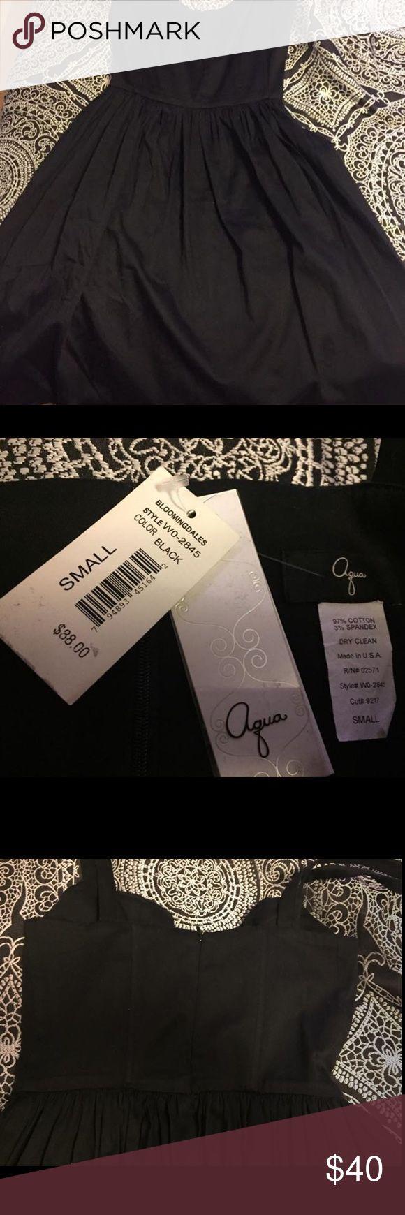 Bloomingdales Aqua Black Dress Empire waist, brand new Aqua Dresses