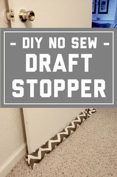 save money on heating your house and express your crafty self with this no sew draft stopper