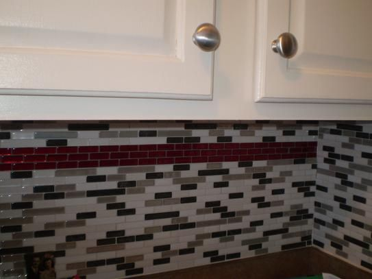 I Loved Adding The Red Decorative Tile To My Kitchen The Murano Cosmo Was