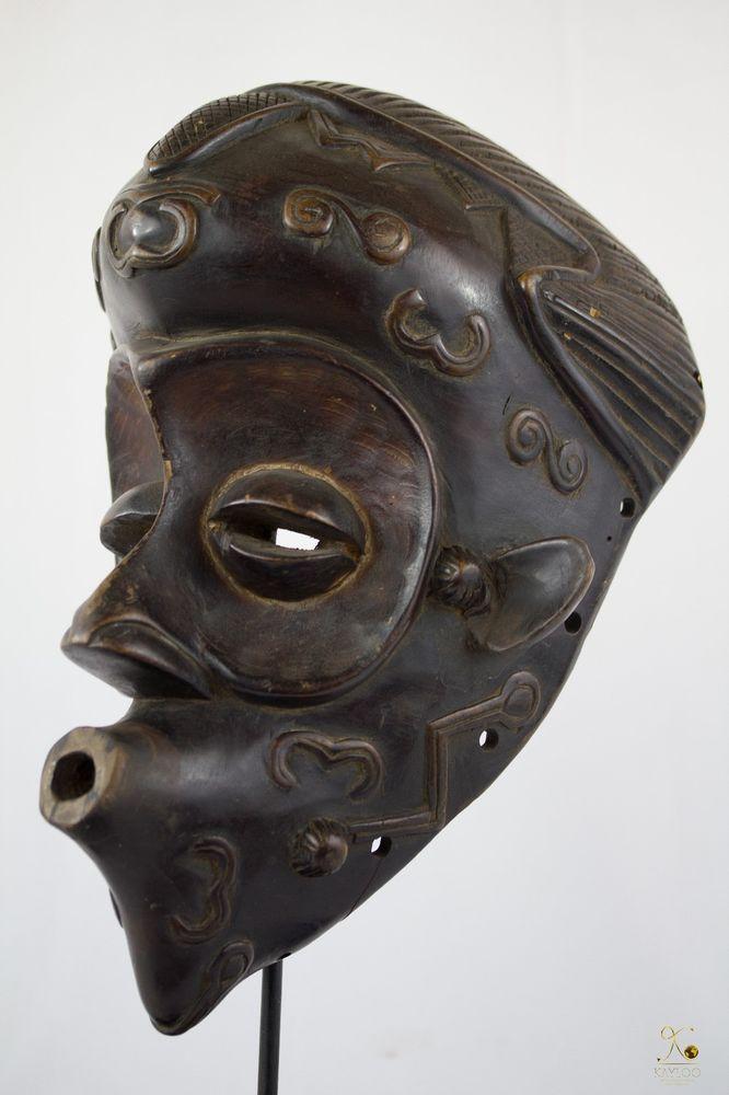 Luluwa (Lulua) Mask-Congo DRC-Stand included