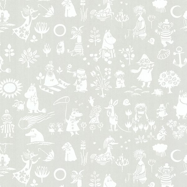 SD5164-3 - Novelty Light Grey Moomin - by Sandudd