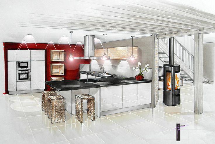 Aur lie mongiatti am esquisse architecte d 39 int rieur - Cuisine architecte d interieur ...