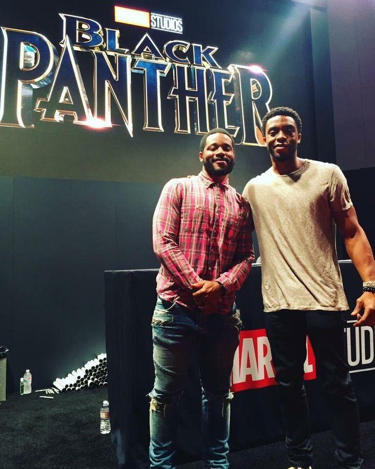 Ryan Coogler and Chadwick Boseman at D23