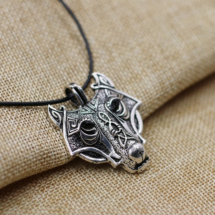 1pcs 4024 Wolf Head Pendant Necklace Norse Vikings Original Wild Men Jewelry Statement Necklace