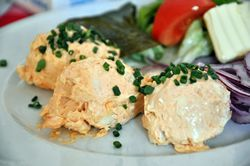 Obatzda (German-style cheese spread) without cream cheese, the traditional German way