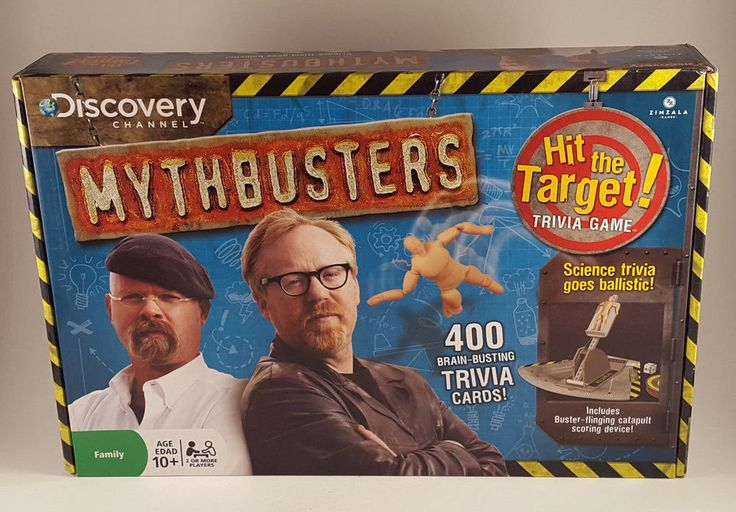 NEW! Discovery Channel Mythbusters Hit the Target Trivia Board Game - FREE SHIP! #ZimzalaGames
