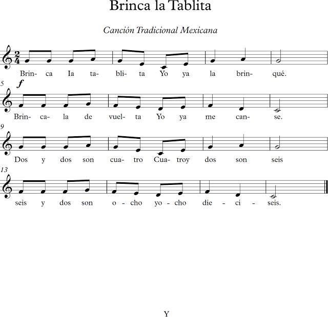 Brinca la Tablita. Canción Tradicional Mexicana.