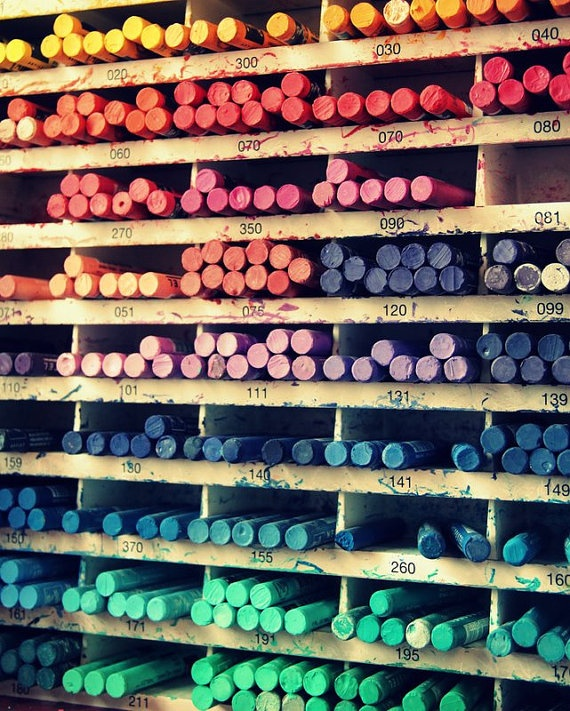 Colorful Wall of Pastels At Sennelier Art Shop in Paris by pamelajanegallery on Etsy