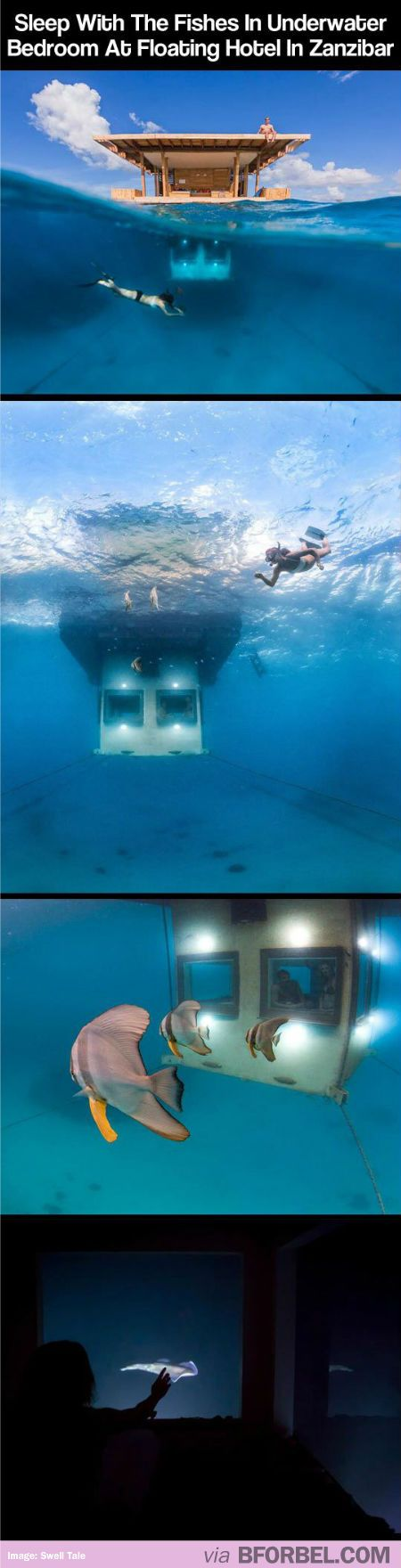 There's A Underwater Bedroom In A Floating Hotel In East ... Underwater Hotel Africa