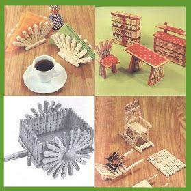 Pinzas de madera Wood clothespins IDEAS FOR WHAT YOU CAN CREATE http://artesanatoeni.blogspot.com/2011/09/o-que-voce-pode-criar-com-pregador.html?m=0