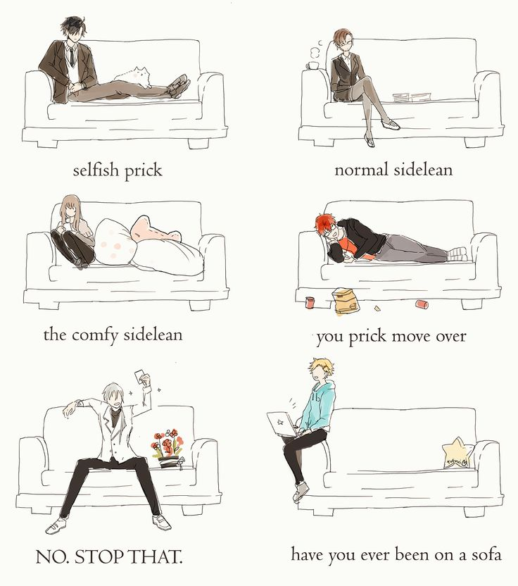 """citrusflan: """" how the rfa members sit on a sofa. my last contribution to this fandom (based off this) """""""