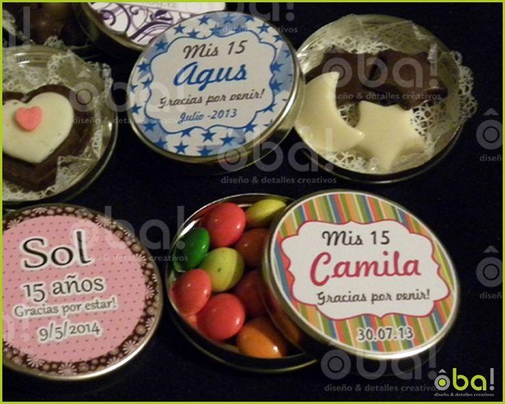 Latitas Souvenir Con Chocolate 15 Años, Cumpleaños, Eventos - $ 32,00 en MercadoLibre