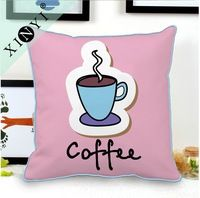Coffee printed custom cushion covers wholesale fancy home decorative throw oriental pillow covers