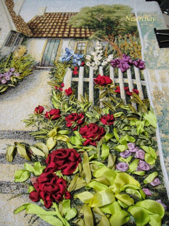 Ribbon embroidery gallery around 190 photos