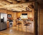One day ill build something like this!!: Dreams Cabins, Lakes House, Dreams Kitchens, Logs Cabins Kitchens, Kitchens Ideas, Rustic Kitchens, Logs Home Kitchens, Modern House, Wood Beams