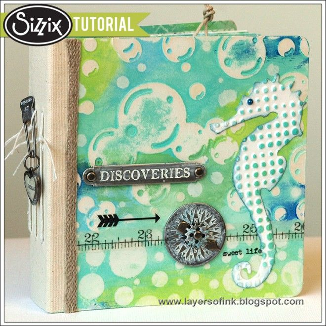 Sizzix Tutorial | Bubble and Gelli Print Album by Anna-Karin Evaldsson Gelli printing with your embossing folders! Anna-Karin has written a fabulous step by step tutorial on the Sizzix blog - loaded with pictures and a beautifully finished chunky mini book! Enjoy!