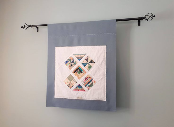 Upcycled Wall Hanging, Quilted Textile, Textile Art, Handmade