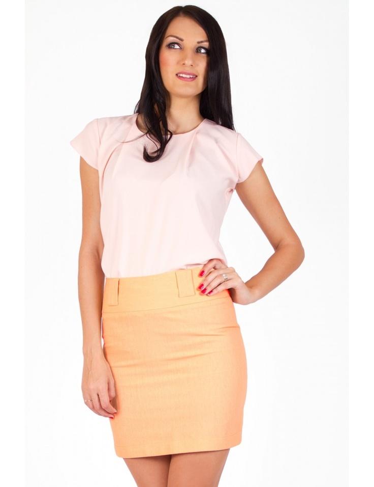 Zega Store - Fusta Zega Tehnical Skirt, culoarea portocalie - Femei, Fuste