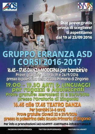 Gruppo Erranza ASD - Corsi 2016-2017 Zingonia