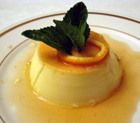 Flan de Naranja - Orange Flan  I absolutely love naturally-flavored citrus desserts. This is easy to make, cool dessert that's perfect for warm weather, so making it tonight!