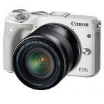 Canon EOS M3 Mirrorless Camera Kit with EF-M 18-55mm Image Stabilization (IS) STM Lens – Wi-Fi Enabled (White)