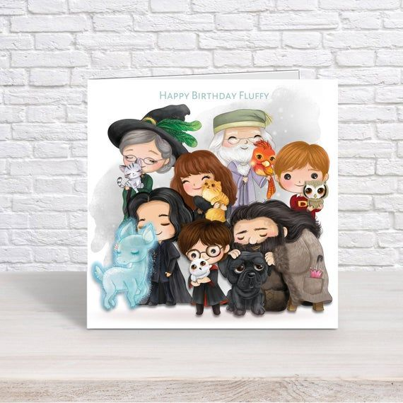 Wizard School Boy Harry Potter With Hedwig Personalised Etsy Personalized Birthday Cards Personalized Birthday Disney Frozen Birthday Party