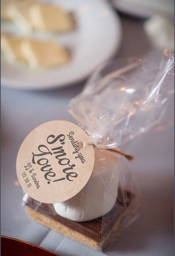 unique wedding favor ideas - smore wedding favors