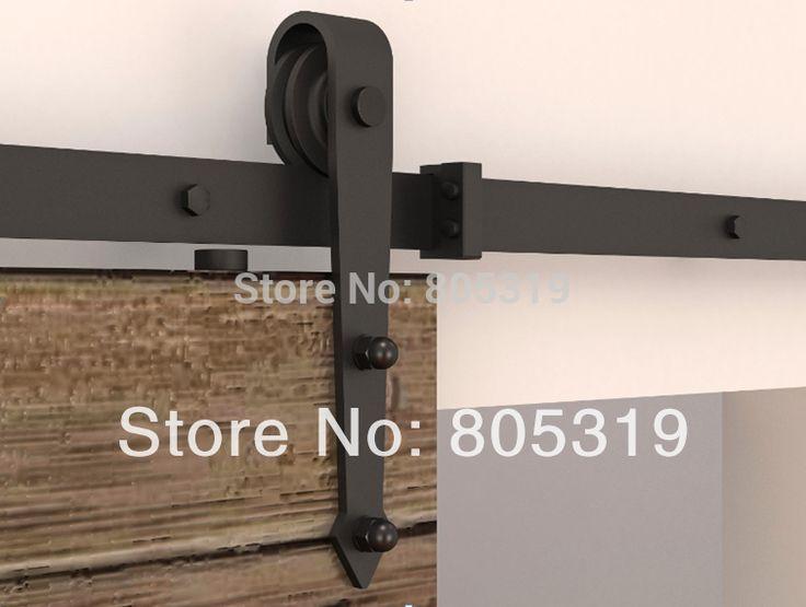 195 см/183 см раздвижные дверь сарая оборудования Интерьера Американский раздвижные двери амбара комплект