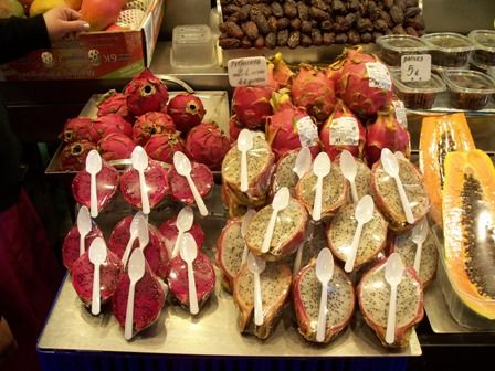 Dragon Fruit, a fruit coming in different colors with a high nutritional value and a bland taste.