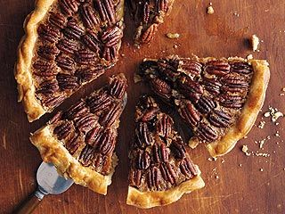 Trisha Yearwood's Pecan Pie  no Karo syrup in recipe...so good you'll never miss it!!!
