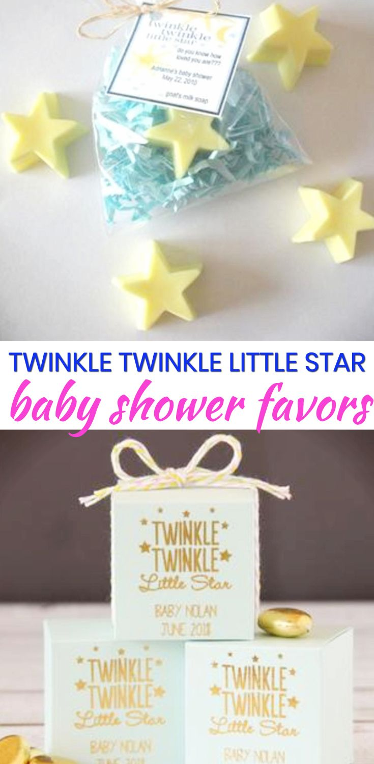 Baby Shower Favor Ideas! The best twinkle twinkle little star baby shower favors! Amazing boys baby shower favors as well as the coolest girls baby shower favors. Find gender neutral ideas for your guests at your twinkle twinkle little star theme baby shower. From DIY ideas to candles to soap to lotion to candy that are cheap, unique and classy. Find the best baby shower favor ideas now!
