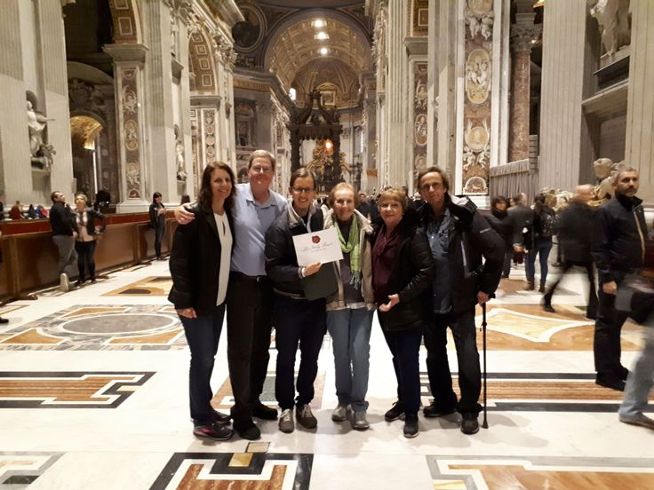 Our guide Davide got this group photo of our clients in the heart of St Peter's Basilica on November 3rd after a great early morning tour! One of our best guides, Davide, showed our clients around the Vatican Museums giving them a personalised experience of one of the most famous museums in the world. For more information about our Vatican Early Entrance Small Group Tour: www.livitaly.com/tour/rome-in-a-day-small-group-tour/?src=pinterest