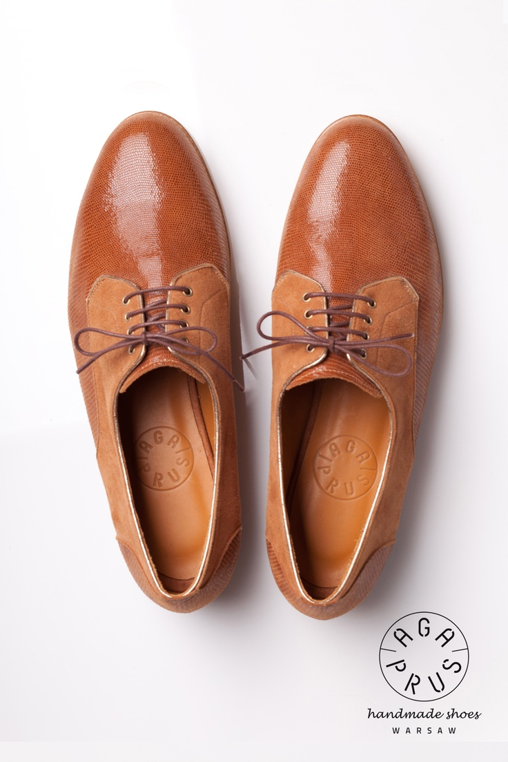 brown Derby Shoes by Aga Prus