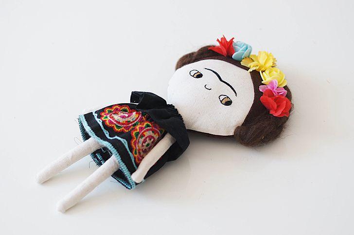 In my wish list: Frida Kahlo Doll by Lelerele http://petitandsmall.com/frida-kahlo-doll-lelerele/