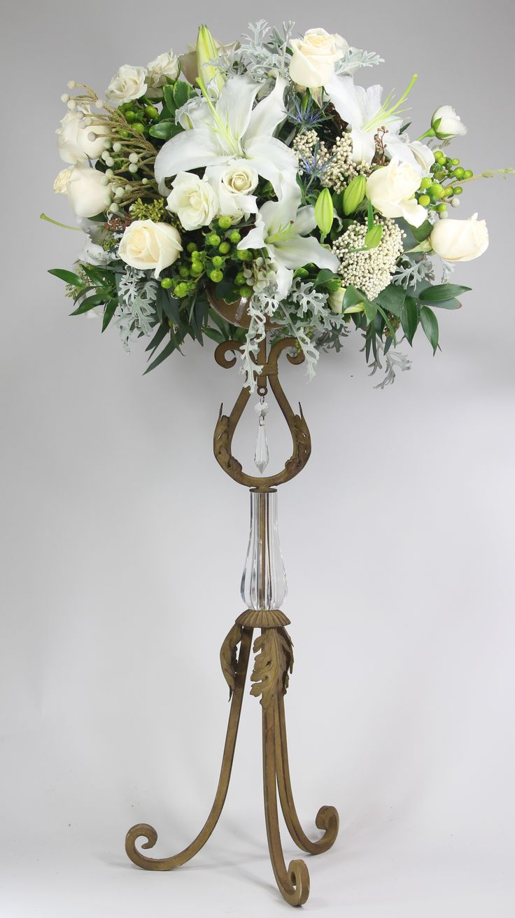 Best centerpiece risers with flowers images on pinterest