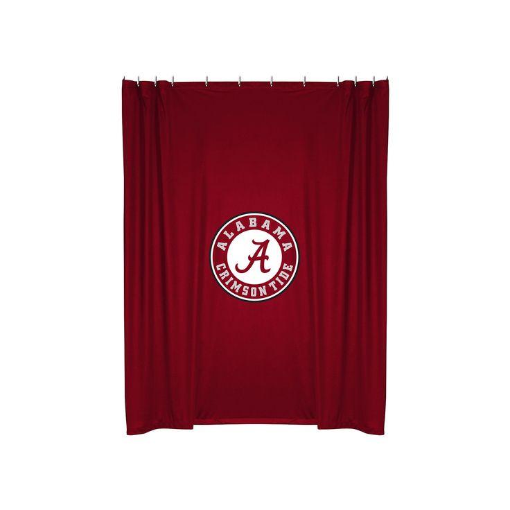 Alabama Crimson Tide Shower Curtain, Red