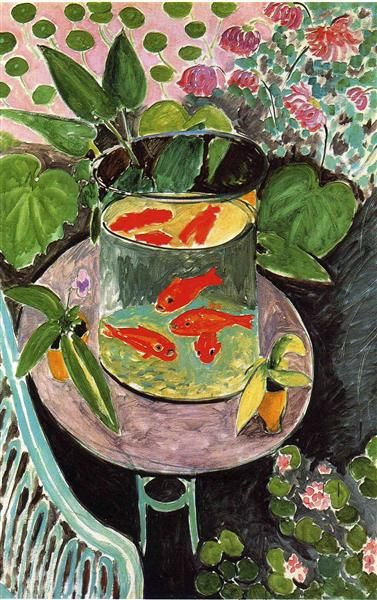 Goldfish, 1911 by Henri Matisse. Post-Impressionism. animal painting. Pushkin Museum of Fine Art, Moscow, Russia