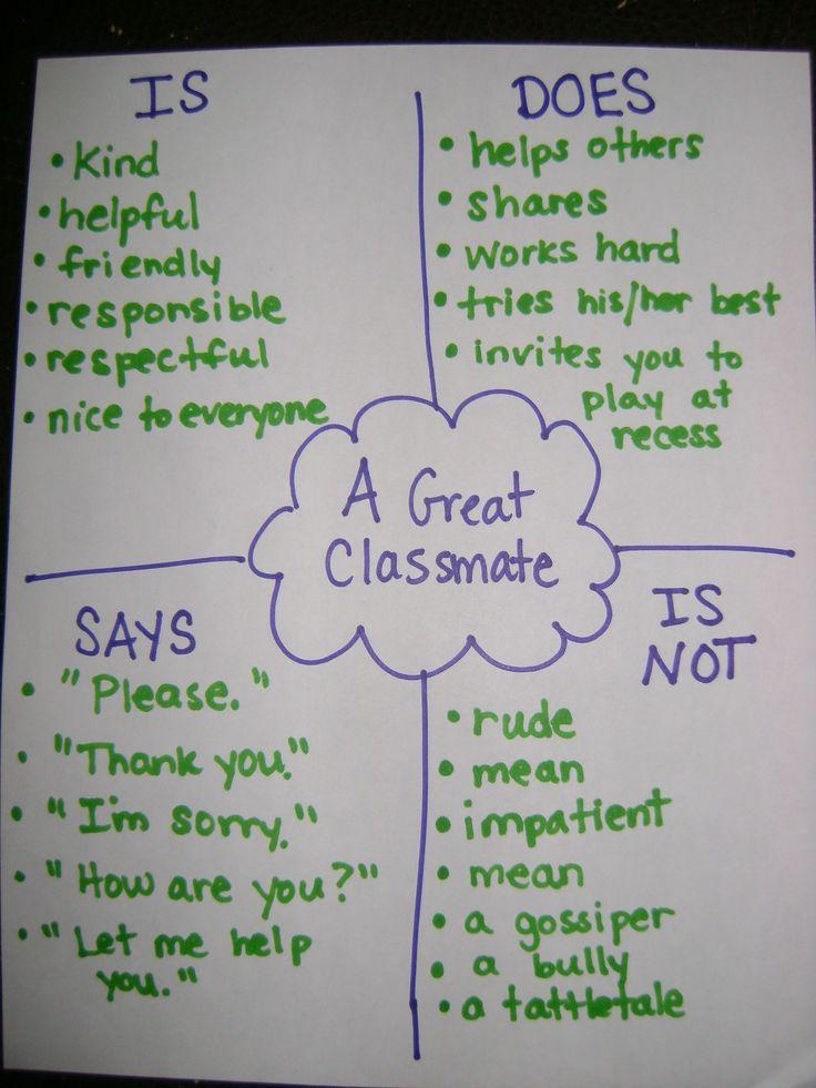 What Makes A Good Classmate Chart