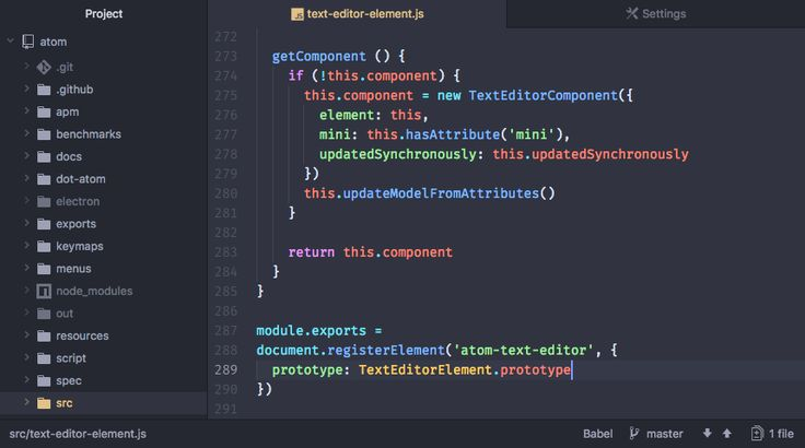 Atom:  A hackable text editor